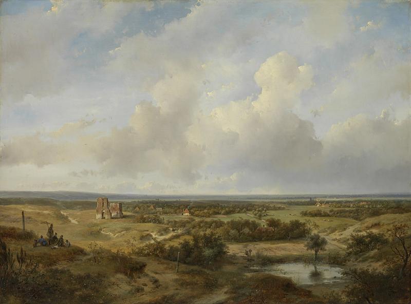 Schelfhout, Gezicht op Haarlem