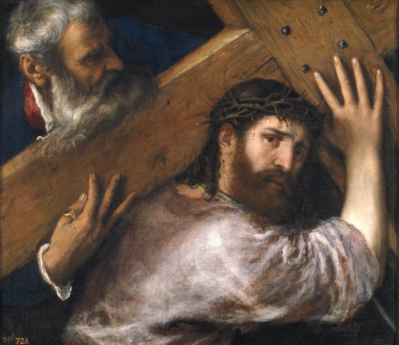 Titiaan, Christus die het kruis draagt