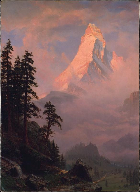 Bierstadt, Zonsopgang op de Matterhorn