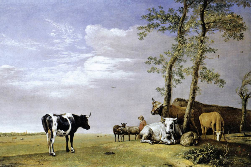 Potter, Een herder met kudde