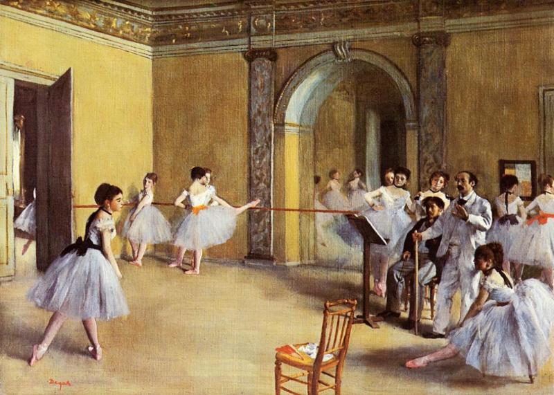 Degas, Balletzaal in de opera van de Rue Peletier