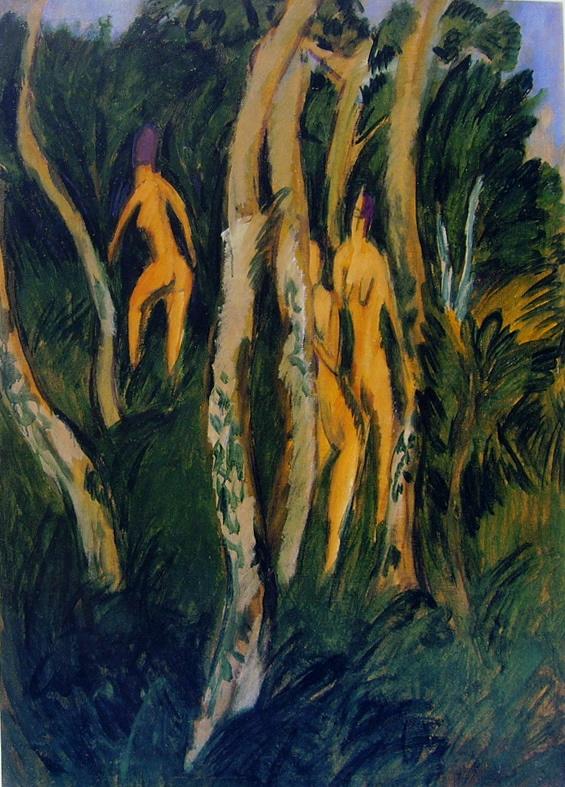 Kirchner, Drie naakten onder de bomen