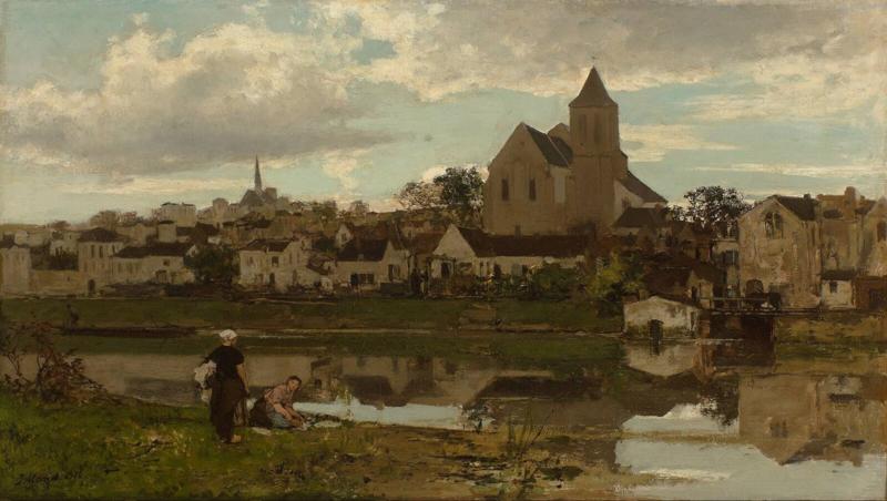 J. Maris, Gezicht op Monigny-sur-Loing