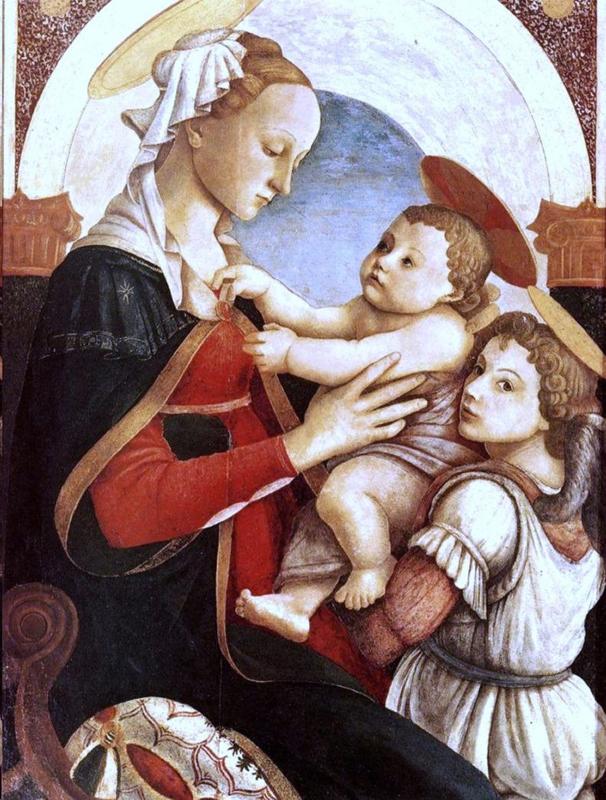 Botticelli, Madonna met kind en engel