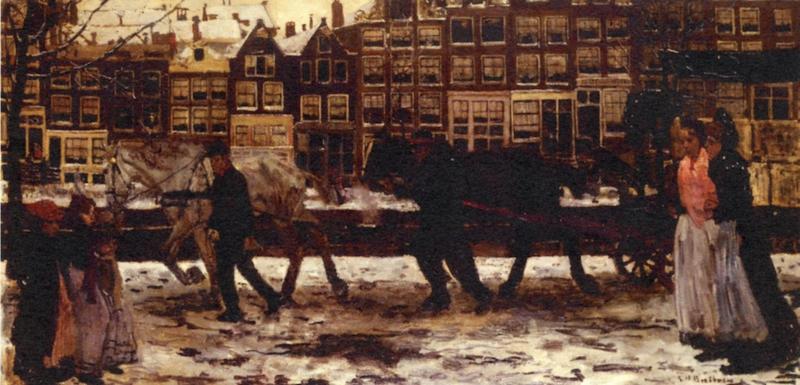Breitner, De lauriergracht in de winter