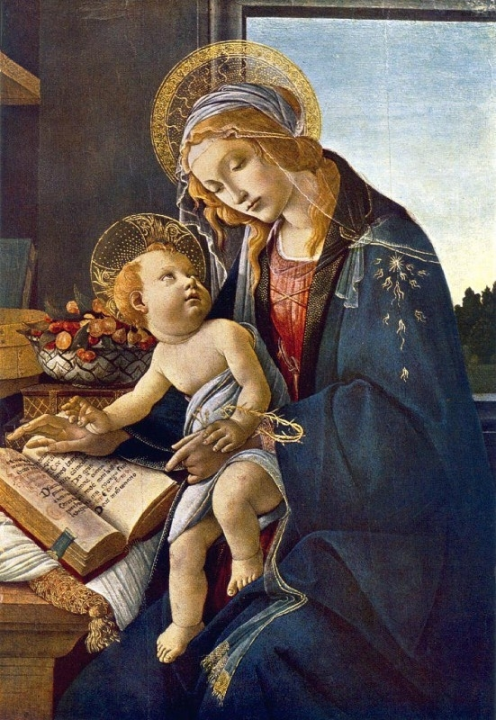 Botticelli, Madonna met boek