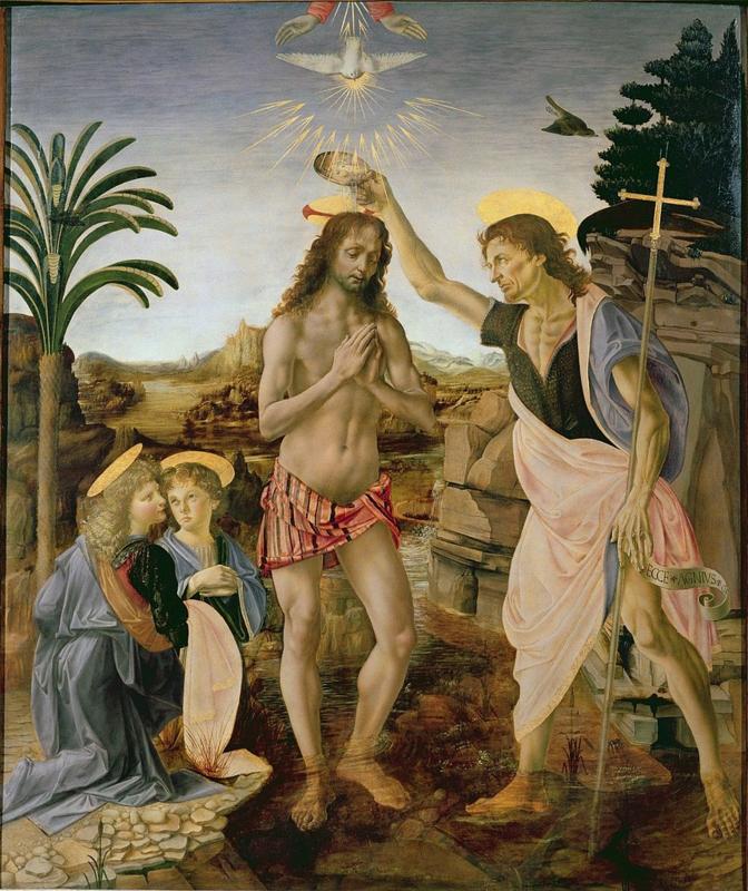 Da Vinci, De doop van Christus