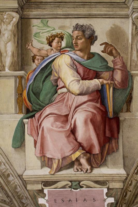 Michelangelo, De profeet Jesaja
