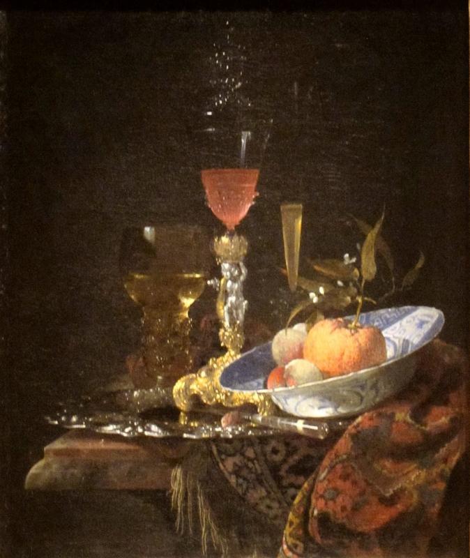 Kalf, Wijnglas en fruitschaal