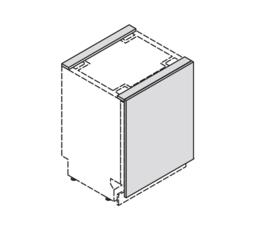 45 cm Front t.b.v. Vaatwasser/onderbouw koeler - Pure Black