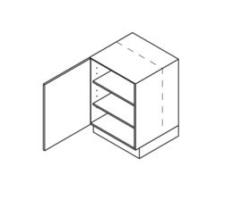30 CM Onderkast met doorlopende deur Links - Alpha Lack