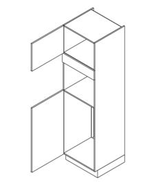 60x210 CM Hogekast t.b.v. Koel + combi Links - Alpha Lack
