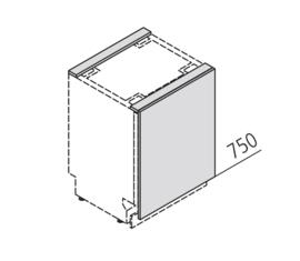 45 cm Front t.b.v. Vaatwasser/onderbouw koeler - Alpha Lack