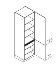 60x210 CM Voorraadkast Rechts - Lux