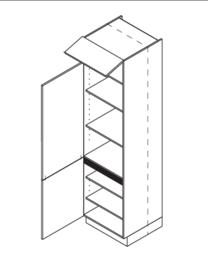 60x225 CM Voorraadkast Links - Lux