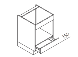 60 CM Onderkast t.b.v. Magnetron - Florenz