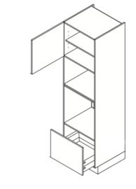 60 CM Hogekast t.b.v. Oven + combi Links - Valencia