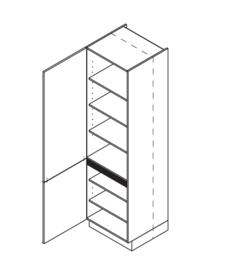60x210 CM Voorraadkast Links - Lux