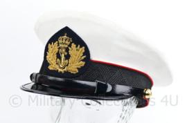 Korps Mariniers platte pet ceremonieel tenue Officier - maat 56 - maker Hassing - origineel