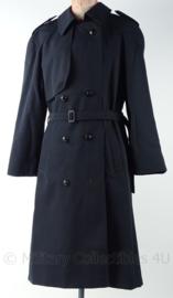 KM Marine dames regenmantel lang - 1998 - donkerblauw - maat 36 - origineel