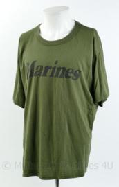 Korps Mariniers T-shirt met korte mouw - merk Tru-Spec - Marines - groen - maat Extra Large - gedragen - origineel