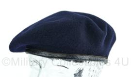 Donkerblauwe Belgische ABL leger baret uit het jaar 1951 - maat 55- Origineel