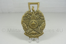 Metalen politie Penning CITY OF LEEDS POLICE  Pro Rege et lege 11 x 7,5 cm. - origineel
