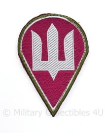 Camouflage Ukrainian Army patch emblem Flag Cossack Sables White on Red - met klittenband  - 10,5 x 7 cm - origineel