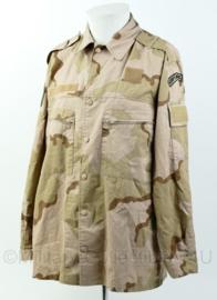 Korps Mariniers Desert basis jas met extra klittenband voor patches en straatnaam.  Maat 6080/9500-  Origineel