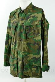 Zeldzaam USMC US Marine Corps Poplin Vietnam oorlog 1970 ERDL camo uniform - Small long - origineel