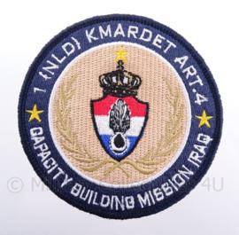 """KMAR Koninklijke Marechaussee """"capacity building mission iraq"""" embleem - met klittenband - diameter 9 cm"""