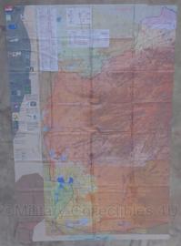 Defensie en KCT Korps Commandotroepen stoffen survival kaart West Afghanistan zone 41 - zeer zeldzaam - 188 x 126 cm - origineel