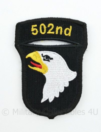 "WO2 US Army 101st Airborne Division ""502nd PIR Parachute Infantry Regiment"" patch met klittenband - 8,4 x 6 cm"