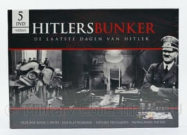 Hiltlers bunker de laatste dagen van Hitler - set bestaat uit 5 dvd's , plattegrond en propaganda poster - speelduur 565 minuten - nieuw - origineel