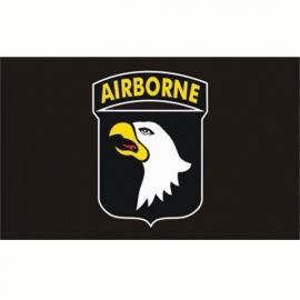 Vlag airborne 101st A/B Division - zwart