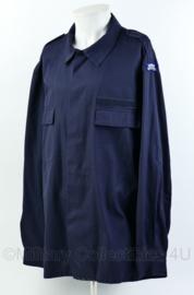 KMAR Marechaussee blauwe uniformjas met straatnamen - zeer goede staat - maat L -  origineel
