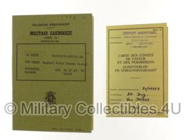 Belgische leger militair zakboekje deel 1 - van Damme - origineel