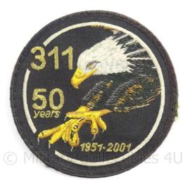 KLu Luchtmacht embleem 311 squadron 50 years 1951-2001 - luxe variant - doorsnede 10  cm - origineel