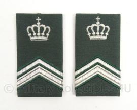 KL Landmacht  DT2000 epauletten rang Wachtmeester 1 Instructeur - per paar - afmeting 5 x 9 cm - origineel