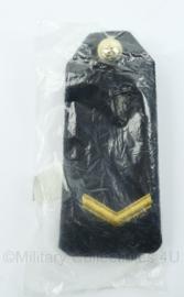 Korps Mariniers epauletten met knoop rang Matroos 1ste Klas - 6 x 14 cm - NIEUW in verpakking met NSN nummer erop - origineel