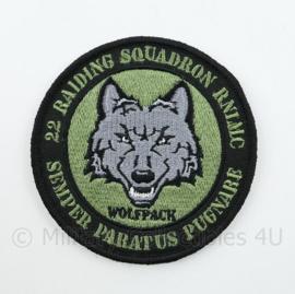 22 Raiding Squadron RNLMC Semper Paratus Pugnare Wolfpack embleem - met klittenband - diameter 9 cm