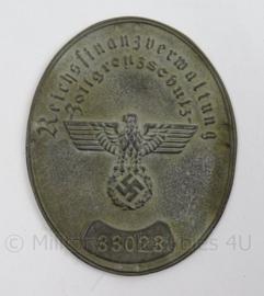 WO2 Duits schild Reichsfinanzverwaltung Zollgrenzschutz - afmeting 6,5 x 8 cm - replica
