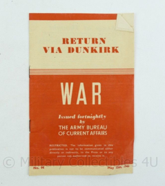 War return via Dunkirk May 12th 1945 - origineel