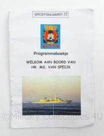 KM Marine Programmaboekje van Hr. Ms. Van Speijk - afmeting 21 x 15 cm - origineel
