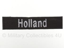 Naamlint HOLLAND met klittenband Groen - nieuw gemaakt