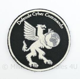 Defensie Cyber Commando embleem  - met klittenband  - 9 cm. diameter