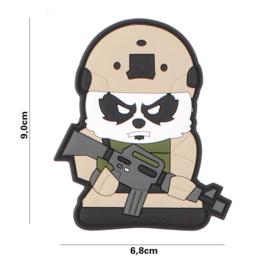 Tactical Panda embleem PVC - 9 x 6,8 cm