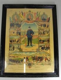 Oorkonde / foto in lijst  - 1905 / 1910 - 60 x 46 cm - orgineel