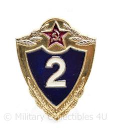 Russische leger Military Proviciency badge 2nd class insigne - 4,5 x  3,5 cm - origineel