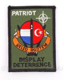 KLu missie embleem Turkije Patriot Display Deterrence met klittenband - 8,5 x 6 cm - origineel
